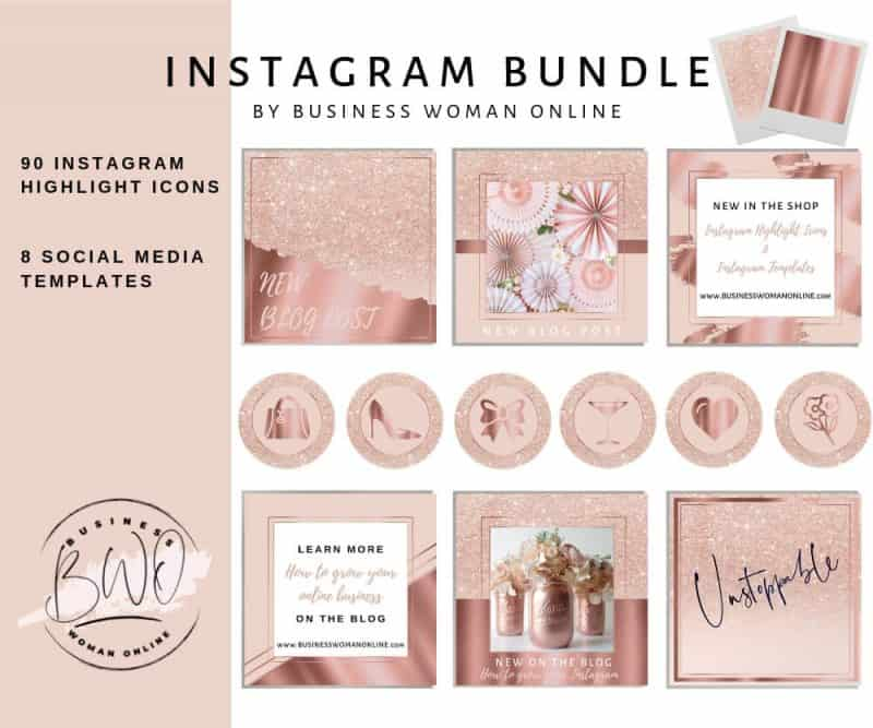 Instagram Highlight Icons Pink