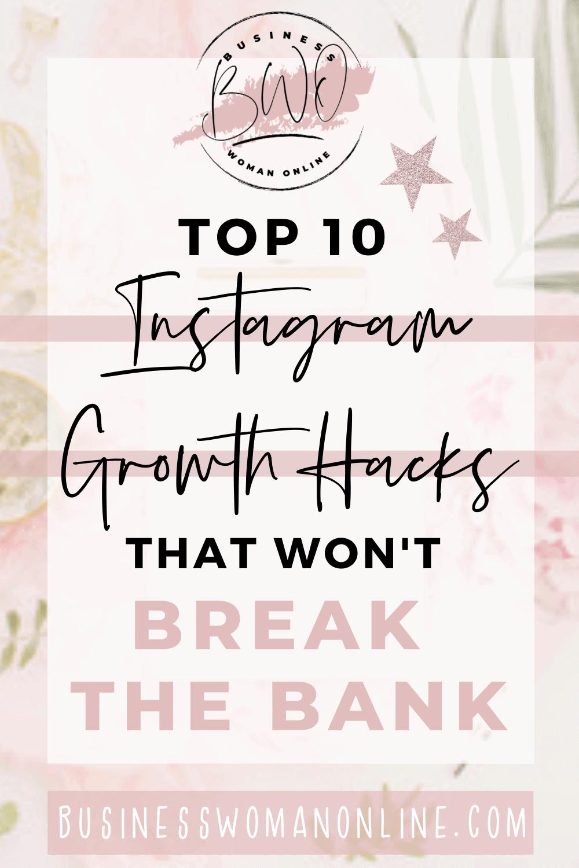 Instagram Growth Hacks that won't break the bank