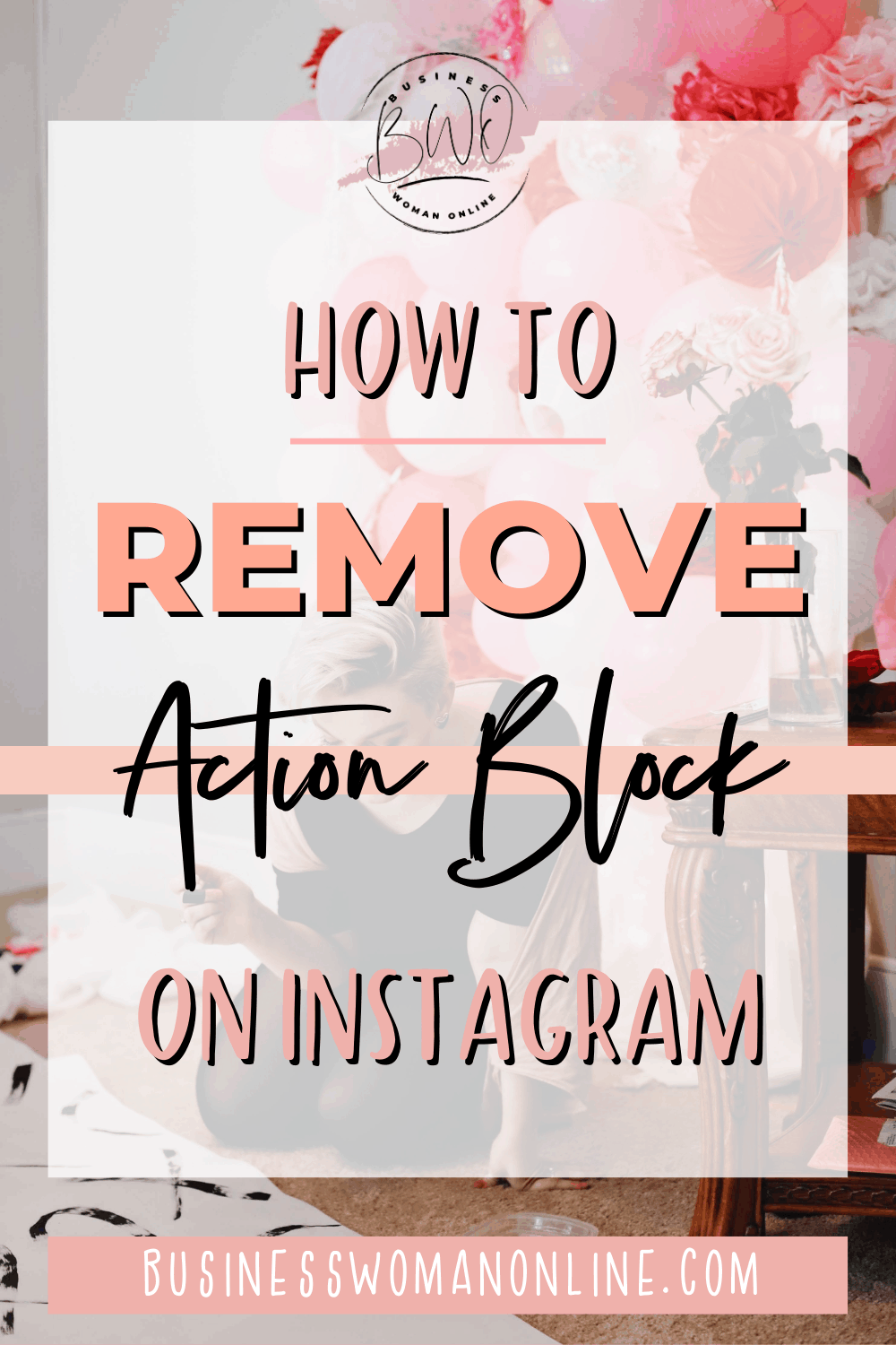 How to remove action block on instagram