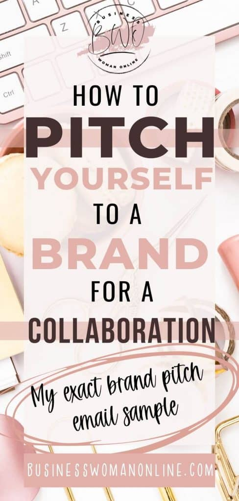 how to pitch yourself to a brand